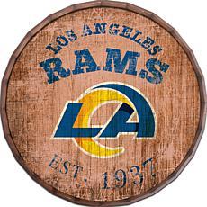 "Los Angeles Rams Established Date 24"" Barrel Top"
