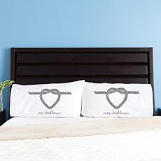 Love Knot Personalized Pillowcase Set of 2