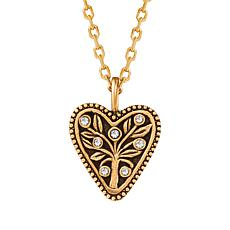 "Luca + Danni 18"" Heart Design Tree of Life Pendant Necklace"
