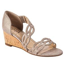Lucca Lane Evan Leather Cork-Wrapped Wedge Sandal