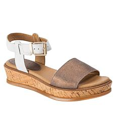 Lucca Lane Kameron Leather Cork-Wrapped Platform Sandal