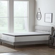 """LUCID Comfort Collection 2"""" Bamboo Charcoal Memory Foam Top - Twin XL"""