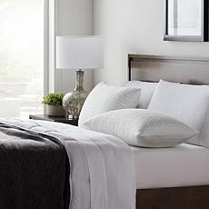 Lucid Comfort Collection 2-Pk Fiber/Shred Foam Pillow w Inner Cvr-King