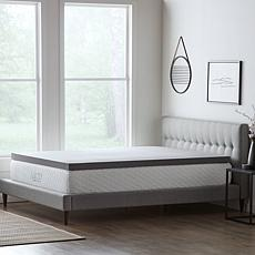 "LUCID Comfort Collection 3"" Bamboo Charcoal Memory Foam Top - Cal King"