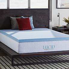 "LUCID Comfort Collection 3"" Gel Memory Foam Mattress Topper - Twin"