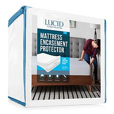 LUCID Comfort Collection Encasement Mattress Protector - Full