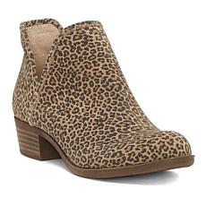 Lucky Brand Baley2 Leopard-Print Suede Bootie