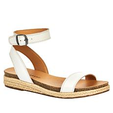Lucky Brand Garston Leather Espadrille Wedge Sandal