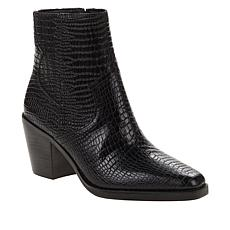 Lucky Brand Jaide Leather Croco-Embossed Ankle Boot