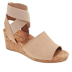 Lucky Brand Kyla Leather Ankle Wrap Wedge Sandal