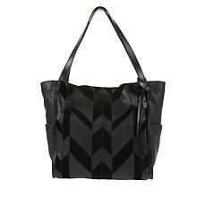Lucky Brand Lich Leather Patchwork Tote