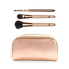 Luke Henderson Large  Cosmetic Case with 3pc Brush Set