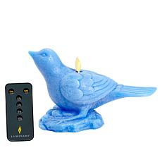 Luminara Moving Flame Bird Candle with Remote
