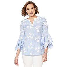 LYSSE Bell-Sleeve Meadow Blouse - Plus