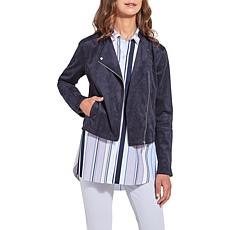 LYSSE Essential Stretch Faux Suede Moto Jacket - Missy