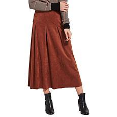 LYSSE Helka Faux Suede Maxi Skirt - Missy
