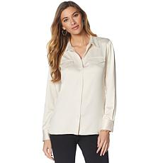LYSSE Satin Brinkley Shirt - Plus