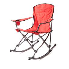 Mac Sports Foldable Rocking Chair with Storage Bag