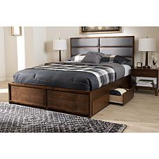 Macey Fabric Upholstered Queen Size Storage Platform Bed