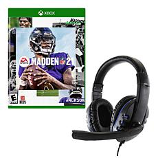 Madden 21 Game for Xbox with Universal Headset