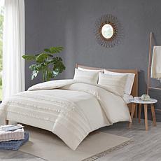 Madison Park Amaya 3-Pc Seersucker Comforter Set Ivory Full/Queen