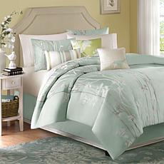Madison Park Athena 7-Piece Comforter Set Green Queen