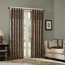 Madison Park Aubrey Jacquard Panel Curtain Pair-Blue-50x108""