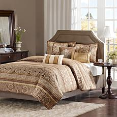 Madison Park Bellagio 6-Piece Coverlet Set - Full/Queen/Brown Jacquard