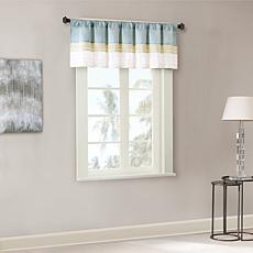 Madison Park Carter Polyoni Pintuck Valance-Green-50x18""