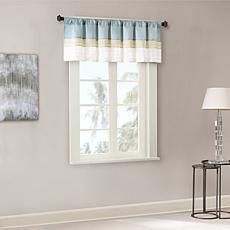 "Madison Park Carter Polyoni Pintuck Window Valance - Green - 50 x 18"""
