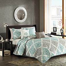 Madison Park Claire 6-piece Coverlet Set - Queen/Aqua