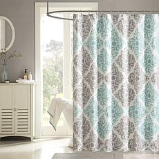 Madison Park Claire Shower Curtain - Aqua