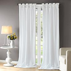 "Madison Park Emilia Curtain - White - 50"" x 120"""