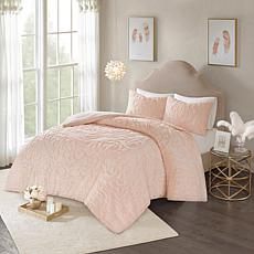 Madison Park Laetitia Tufted Chenille Medallion Comforter Set- K/Cal K