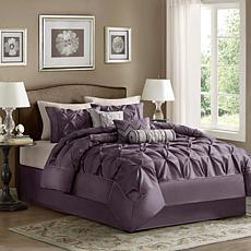 Madison Park Laurel Comforter Set King Plum