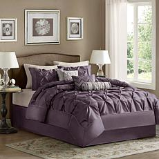 Madison Park Laurel Comforter Set Queen Plum