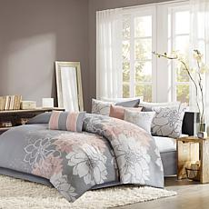 Madison Park Lola Comforter Set King Gray/Yellow