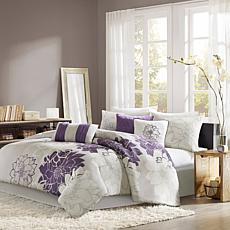 Madison Park Lola Comforter Set Queen Gray/Purple