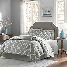 Madison Park Merritt 9pc Bedding Set - King/Gray