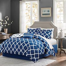 Madison Park Merritt 9pc Bedding Set - Queen/Navy