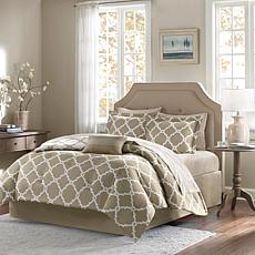 Madison Park Merritt 9pc Bedding Set - Queen/Taupe