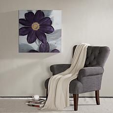 Madison Park Midnight Bloom Plum Embellished Canvas