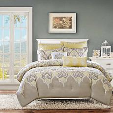Madison Park Nisha Yellow Comforter Set - King/Cal King