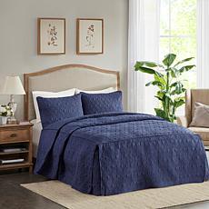 Madison Park Quebec Fitted Bedspread Set - King