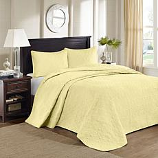 Madison Park Quebec King Quilted Bedspread Set - Yellow