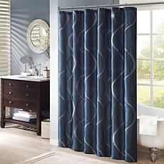 "Madison Park Serendipity Shower Curtain - Navy/72"""