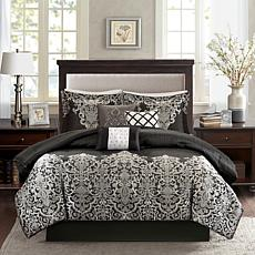 Madison Park Vanessa Black 7pc Comforter Set - King