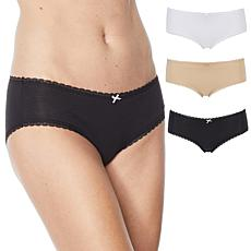 Maidenform 3-pack Cotton Stretch Breathable Hipster Panty