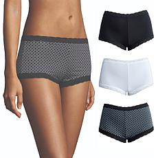 Maidenform 3-pack Microfiber and Lace Boy Short
