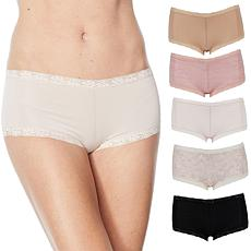 Maidenform 5-pack Microfiber and Lace Boy Short